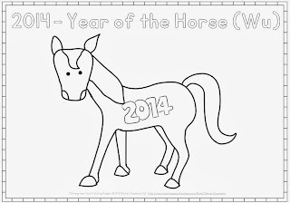 chinese zodiac coloring pages for chinese new year 2014