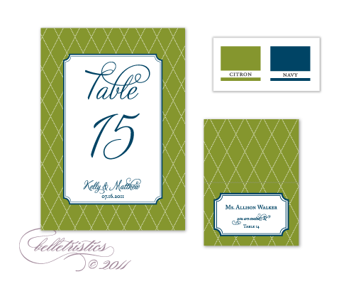 citron green blue navy dotted printable diy wedding reception stationery design