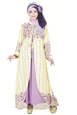 Model Baju Gamis Sifon Jersey Terbaru 2016