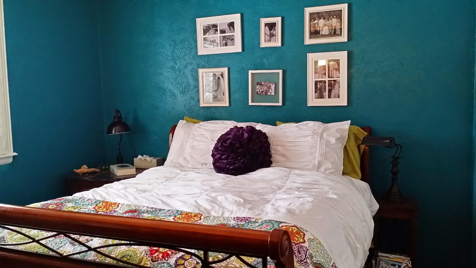 Pinsperation bedroom makeover with essential teal paint for Teal paint for bedroom