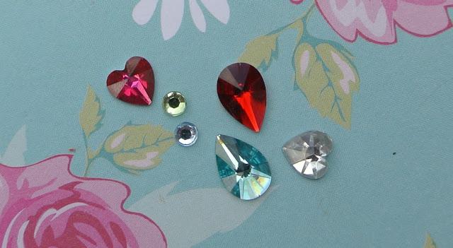 nail rockits crystal heart circle teardrop