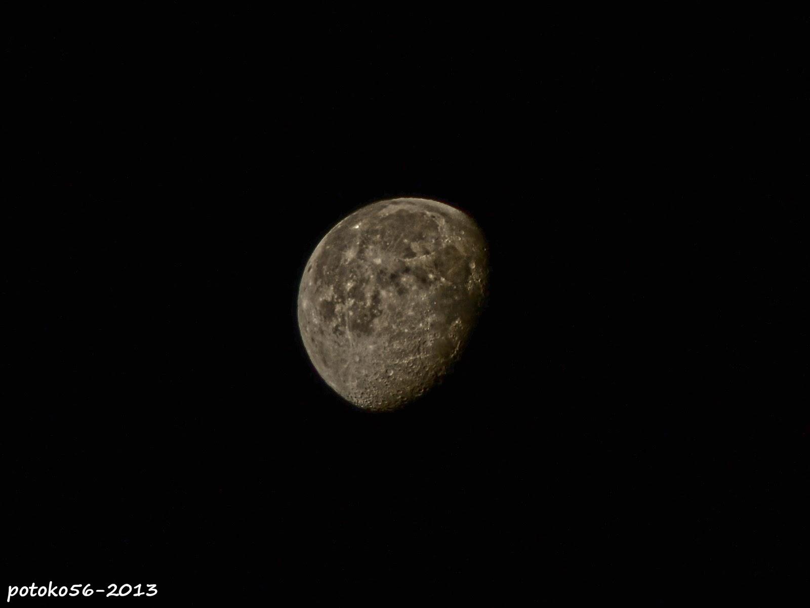la luna menguante madrugada de Rota
