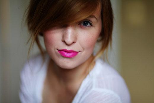 Sydney Poulter Daybook lipstick