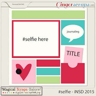 selfie -GingerScraps iNSD FB Hop 2015 - by Magical Scraps Galore