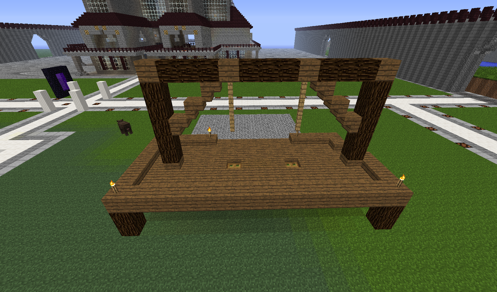 Minecraft building ideas gallows for House build ideas