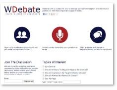Wdebate.com Opens Registration for Live Online Video Debate Website