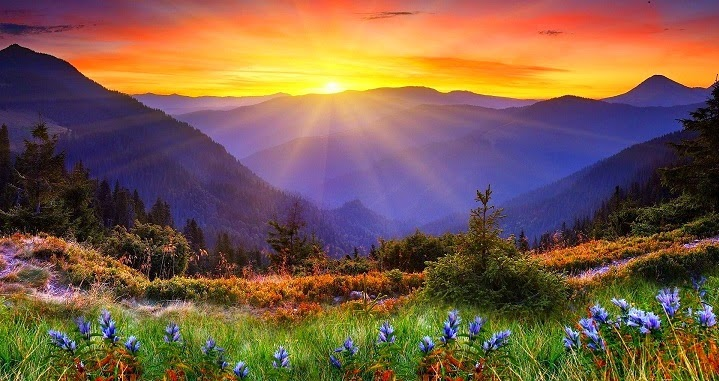 Self sufficient mountain living sun just coming up now for Living on a mountain