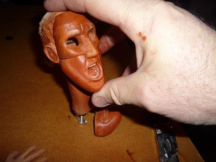 Painting Stopmotion Puppet Heads © 2012 Jeff Lafferty