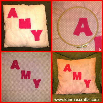 personalised cushion cover tutorial