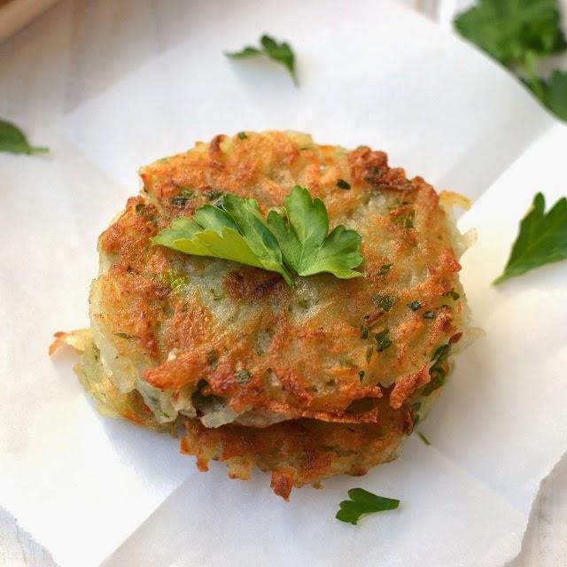 Potato Latkes (Eggless vegan recipe)