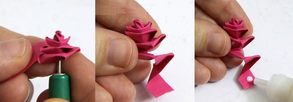 Continue Folding Your Paper And Rolling Making Sure The Top Flares Out While Bottom Always Stays Close To Quilling Tool When You Have Finished