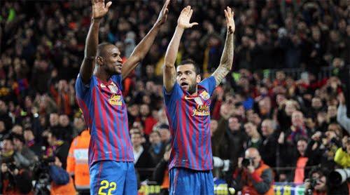 Dani Alves bailando Ai se eu te pego gol al Madrid