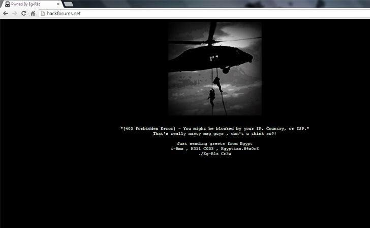 Hackforums Website Defaced by Egyptian Hacker