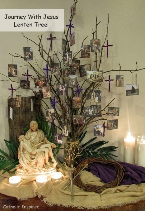 Journey with jesus ebooks and lenten activities for Catholic decorations home