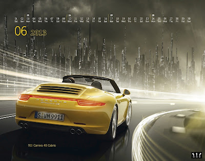 Porsche's New 2013 'Mega City' Wall Calendar okokno facebook