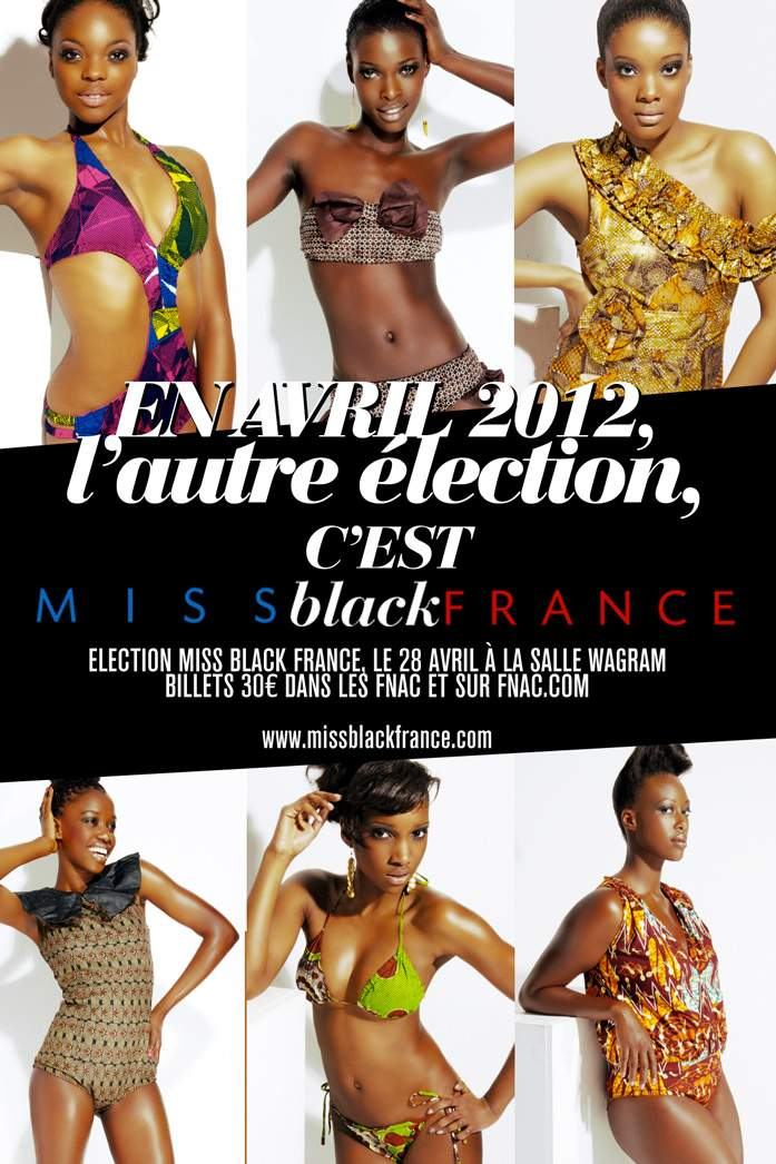 "Cartaz oficial do concurso ""Miss Black France"""