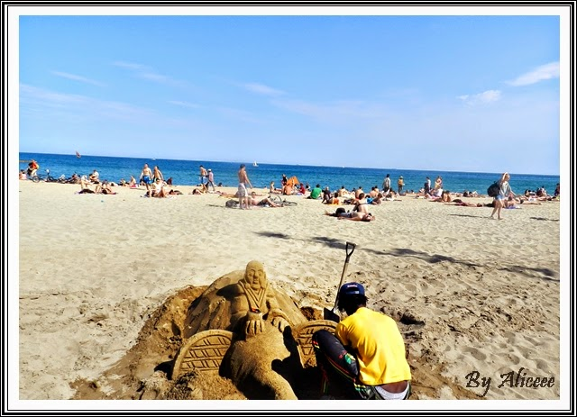 statui-nisip-barcelona