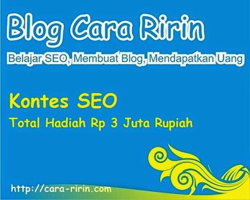 Kontes SEO Blog Cara Ririn