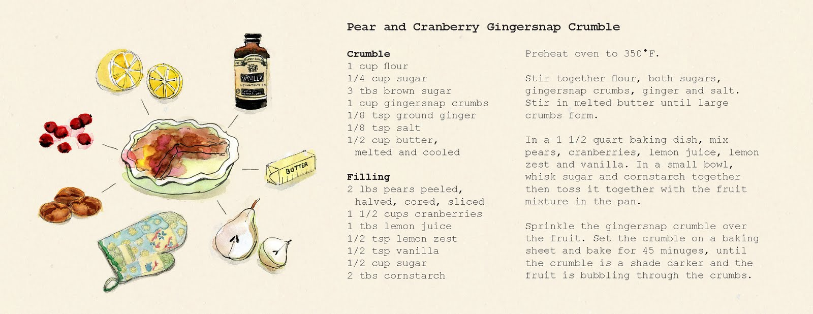 cranberries pears cranberry gingersnap gingersnap crumble pear and ...