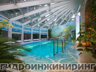 Строительство бассейна от компании Гидроинжиниринг Москва.