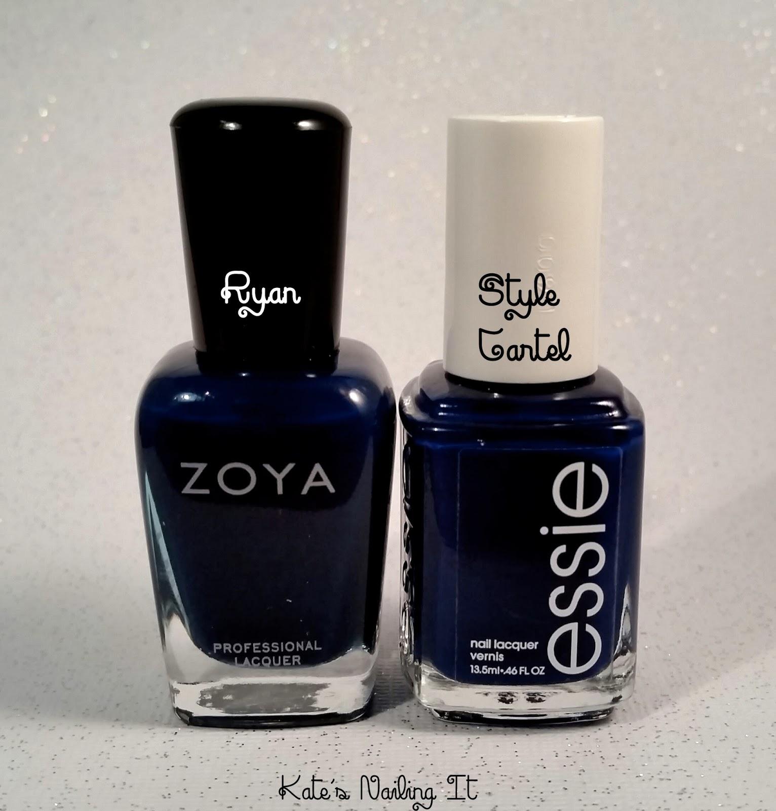 Kate\'s Nailing It: Do I Need Them All? Zoya Ryan vs Essie Style Cartel