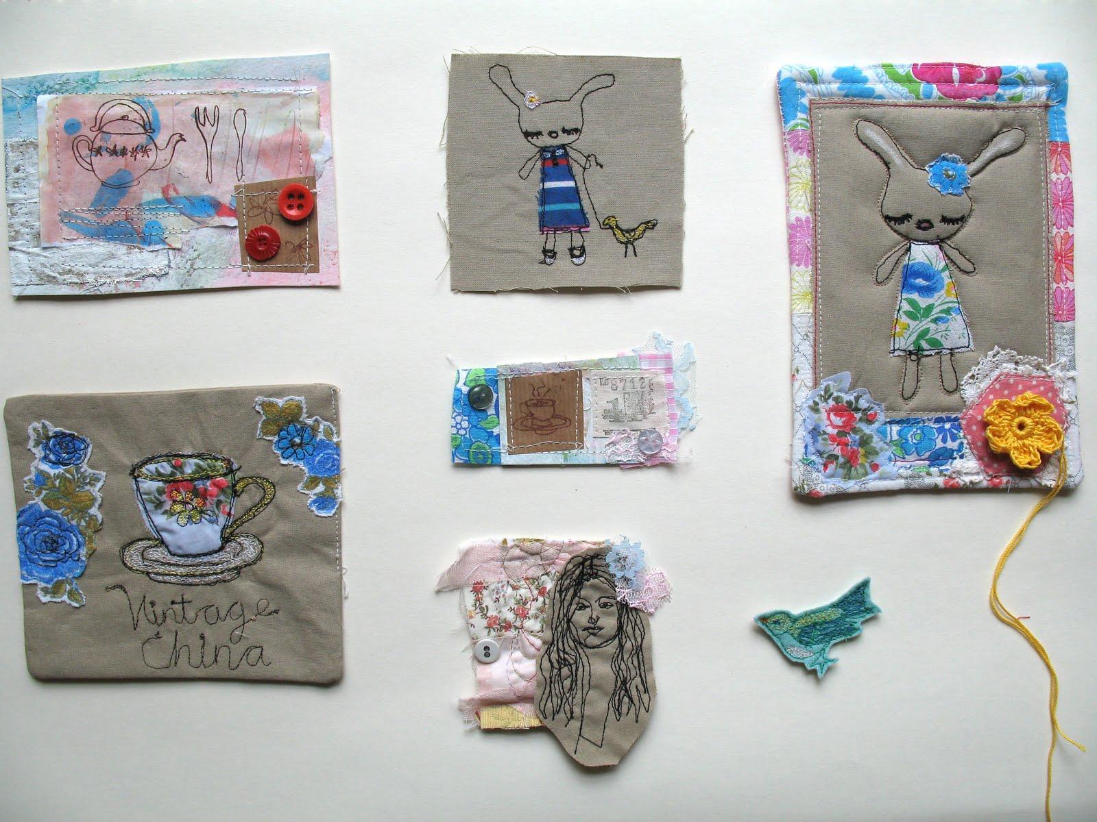 Girl Eats Art Freehand Machine Embroidery