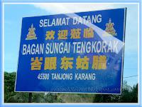 Welcome signage to Bagan Sungia Tengkorak, Tanjong Karang, Selangor, Malaysia