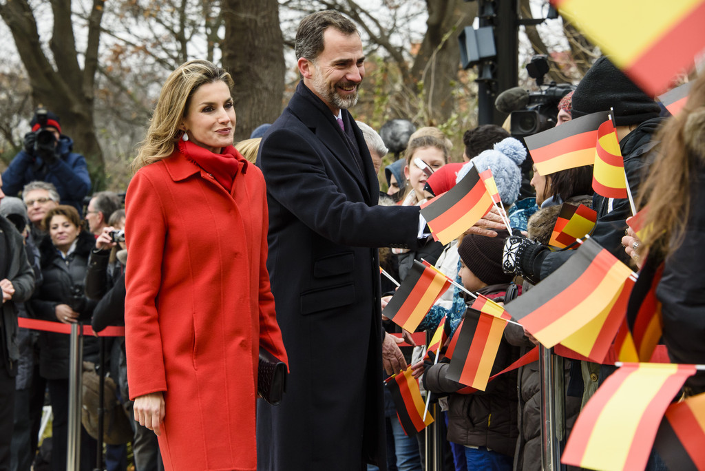 King Felipe VI of Spain and Queen Letizia of Spain visit Germany