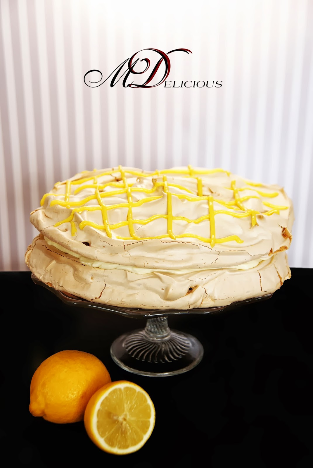 torcik bezowy, beza, tort cytrynowy