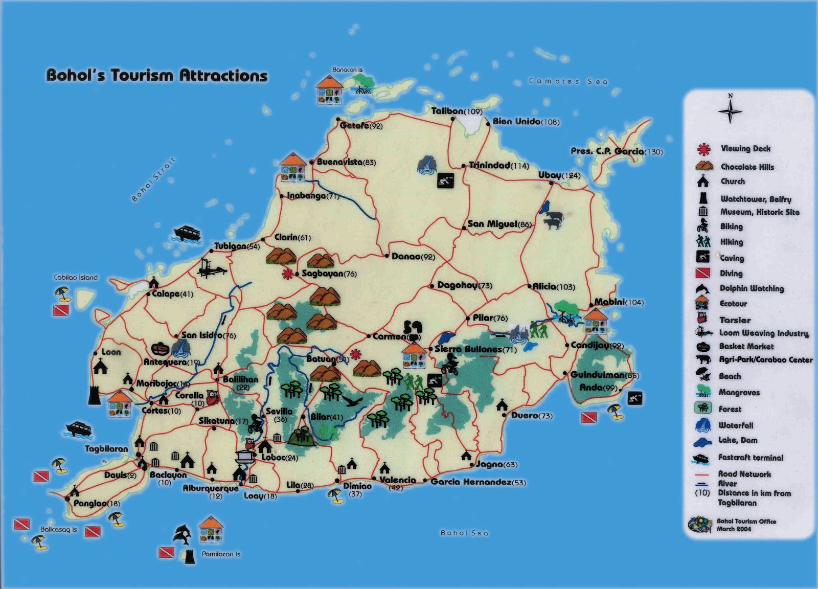 BOHOL CEBU TRIP MOUNTAINSampBEYOND – Philippines Tourist Attractions Map