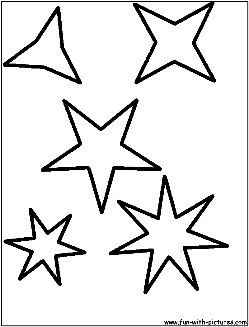 Star Coloring Here are star picture to color