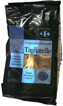 Tagliatelle beetgaar koken in 7 minuten zoals vermeld op de verpakking