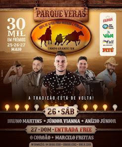 Vaquejada Parque Veras - Dias 25, 26 e 27 de Maio 2018 em Campo Grande