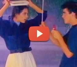 Propaganda do Sonho de Valsa: paixão de um aluno com sua professora, em 1990.