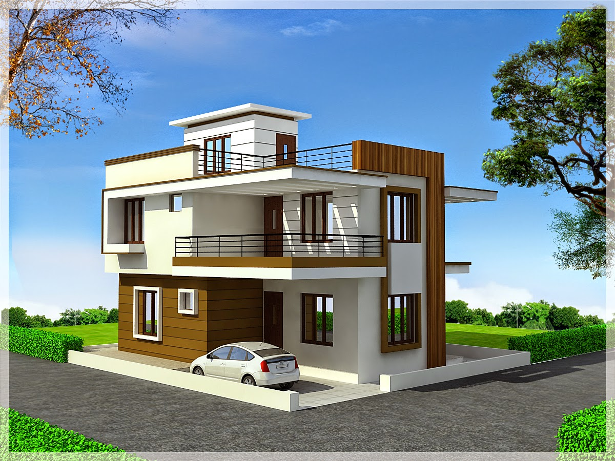 Duplex house modern house for Modern triplex house designs