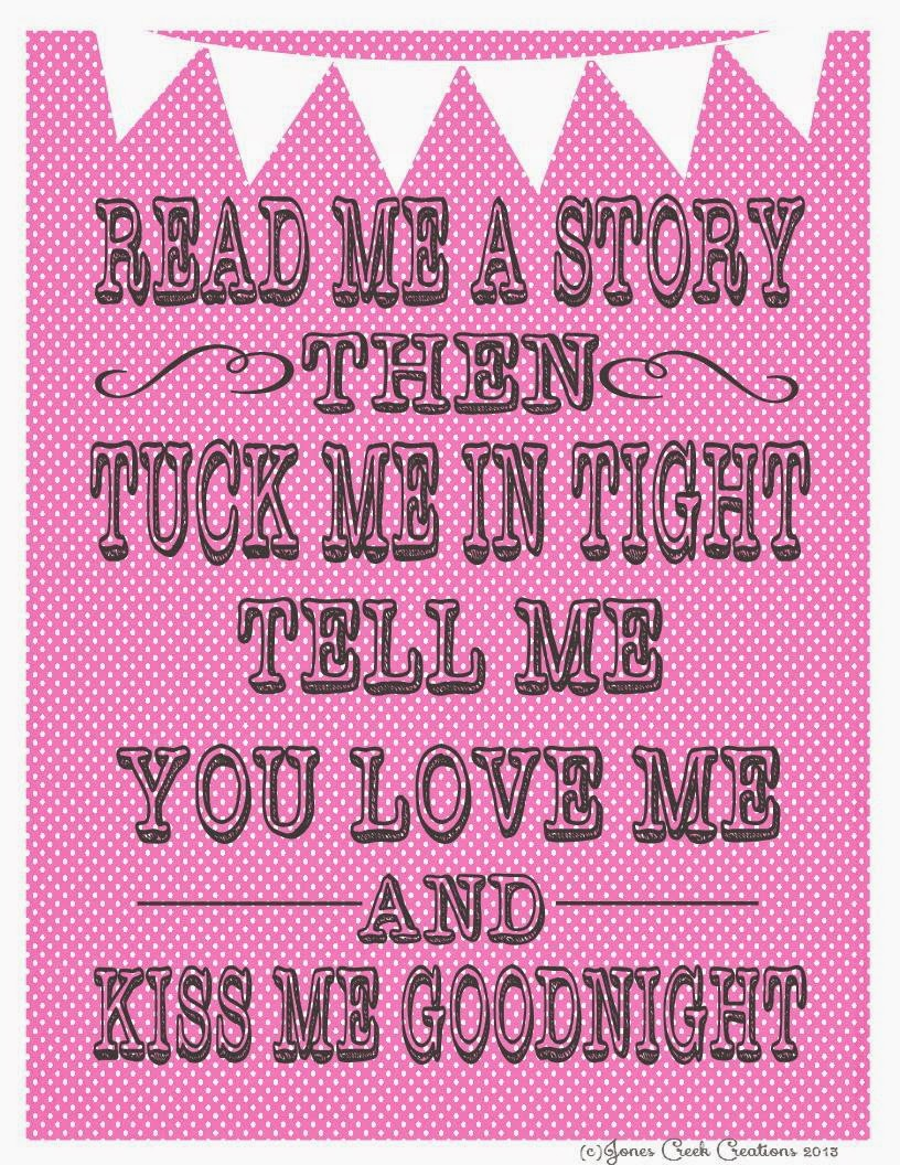 READ ME A STORY IN PINK 8X10