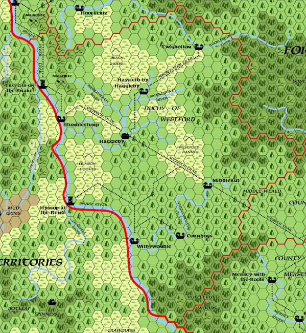 Mystara Alphatia Foresthome Westford map