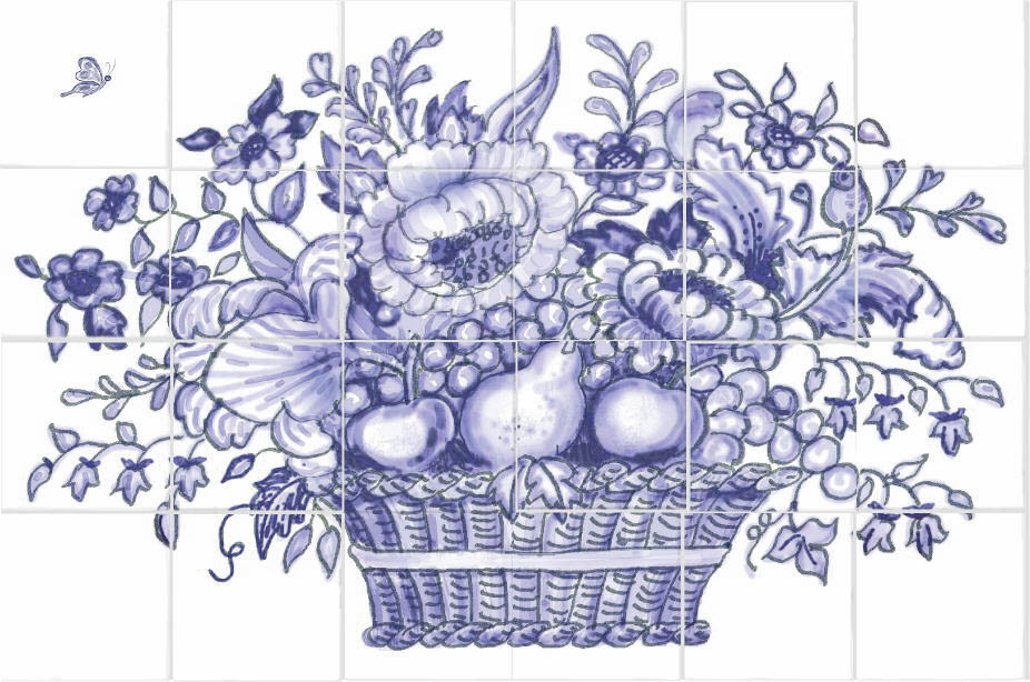 Pics For > Pencil Drawing Of Flower Basket