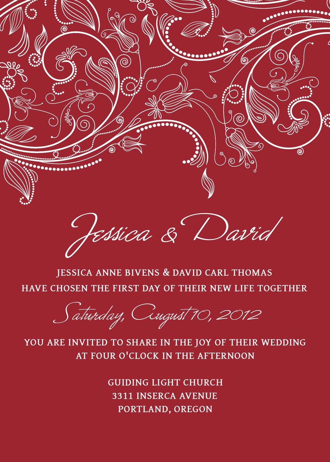 Elegant and Beautiful Wedding Invitations for Free: September 2011