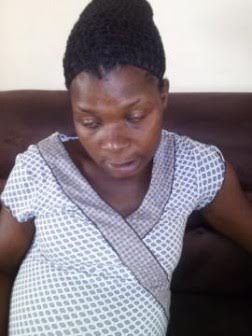 Battered  preganant Teenager who EFCC operative beat up becasue she refused to get an abortion