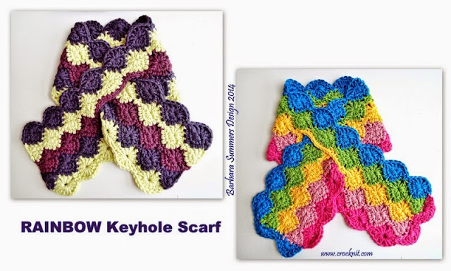 crochet patterns, keyhole scarf, how to crochet,