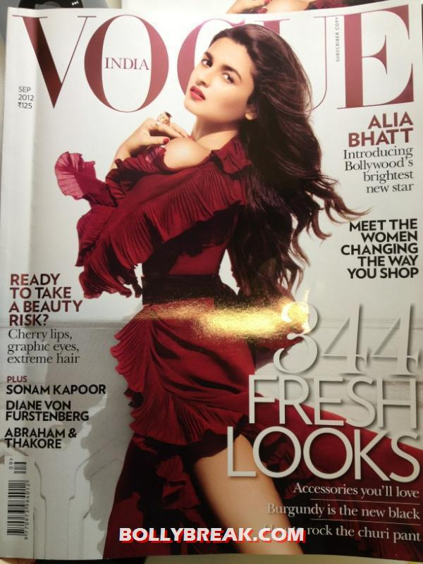 Alia Bhatt on Vogue Magzine Cover - Alia Bhatt on Vogue Magzine Cover