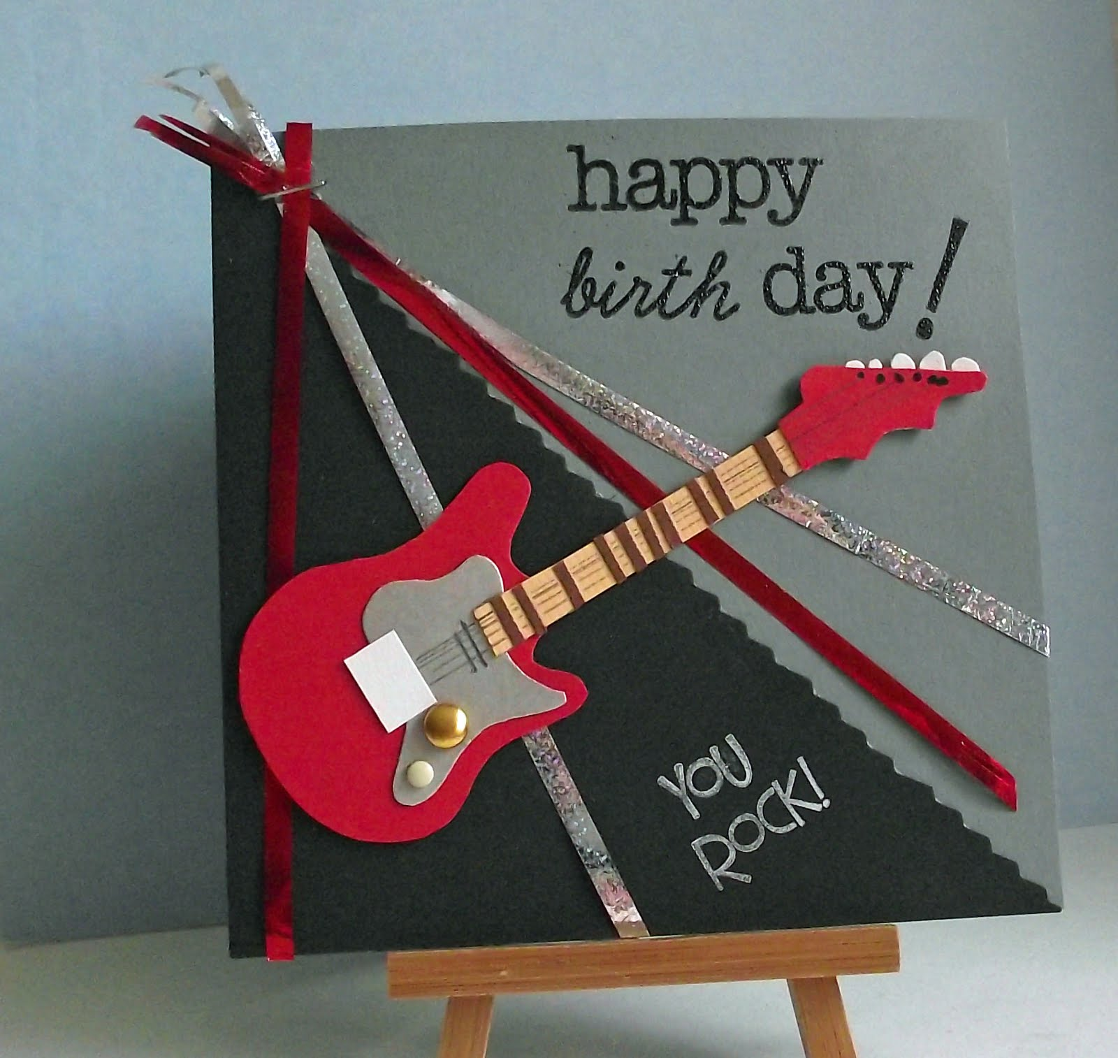Tintin heart birthday guitar great inspiration from my copy papercraft inspirations magazine issue 88 i needed a birthday card for a teenager male and this guitar template was just bookmarktalkfo Choice Image