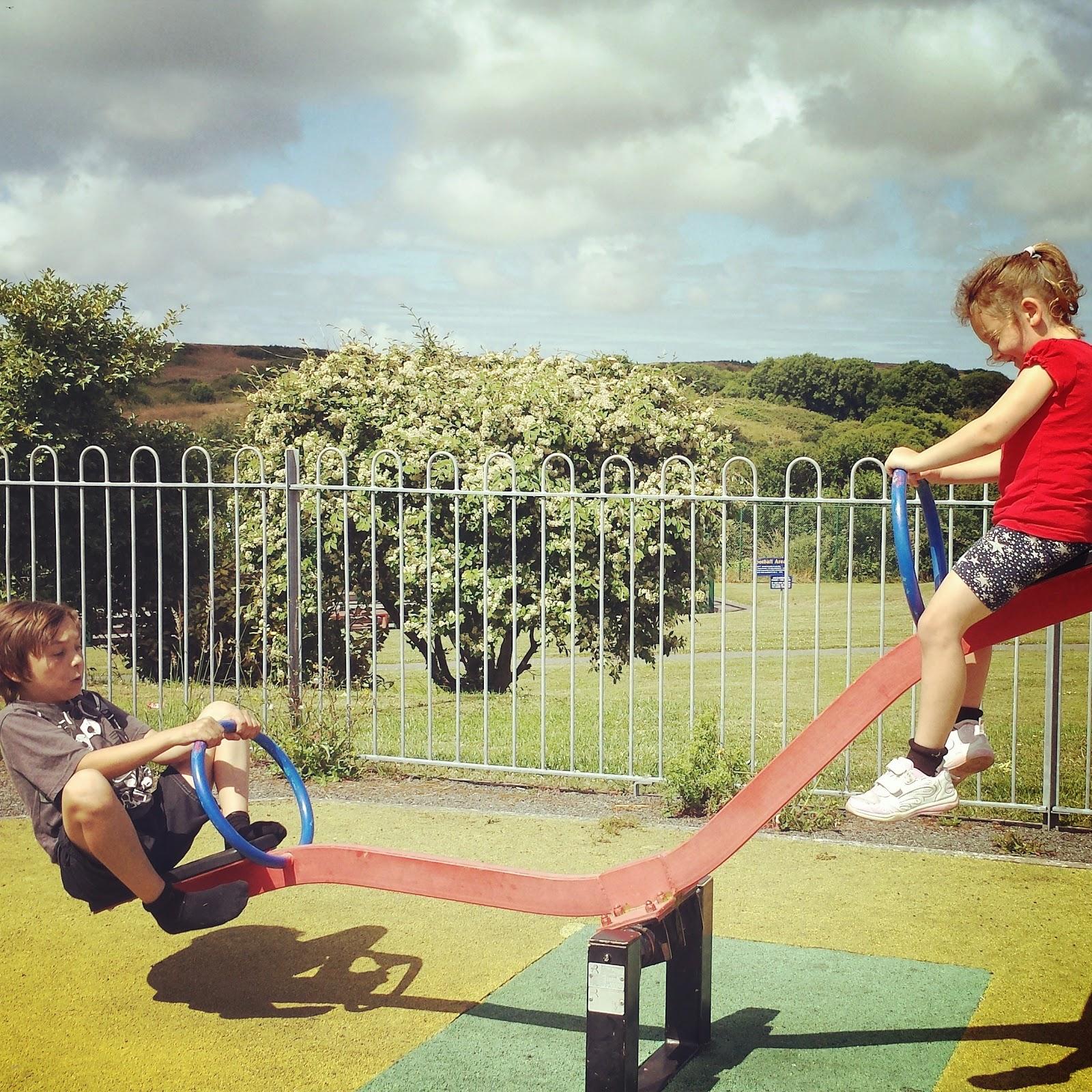 Danny Caitlyn See Saw park