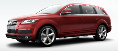 2013 Audi Q7 S-Line red