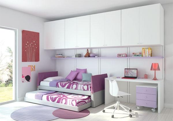 Fotos de dormitorios juveniles para dos chicas - Camas para chicas ...