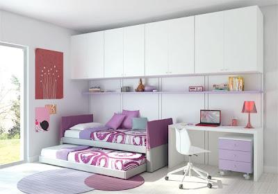 Fotos de dormitorios juveniles para dos chicas - Habitaciones de dos camas juveniles ...