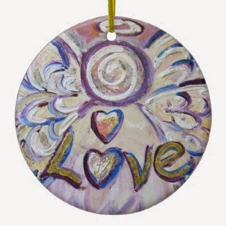 Love Angel Word Ornament