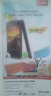 Alcatel D662 Android GSM-CDMA Terbaru