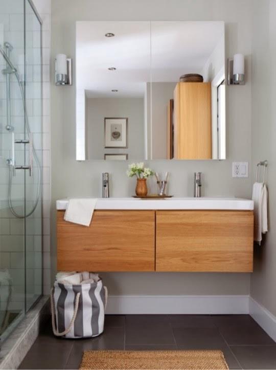 Muebles suspendidos gana espacio y funcionalidad ideas carpinteros - Ikea meuble salle de bain godmorgon ...